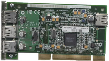 The Adaptec USB2Connect PCI card!