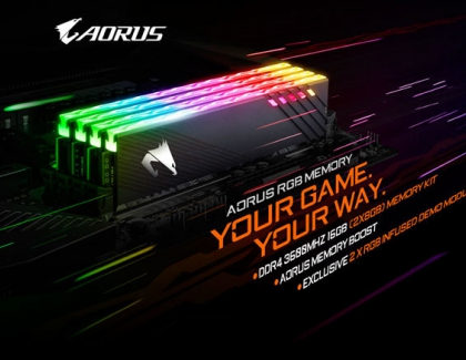 GIGABYTE Introduces the AORUS RGB MEMORY 16GB 3600MHz
