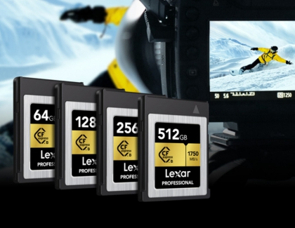 Lexar Announces High-performance CFexpress Type B Memory Card
