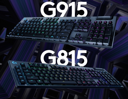 Logitech Unveils the G915 LIGHTSPEED and G815 LIGHTSYNC RGB Mechanical Gaming Keyboards