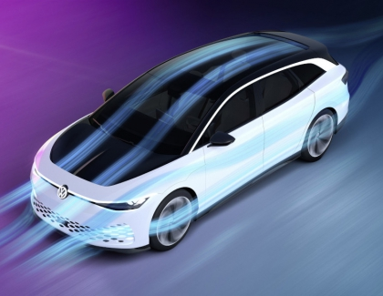 Volkswagen Showcases New ID. SPACE VIZZION Concept