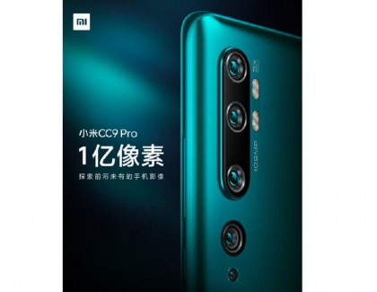 Mi CC9 Pro Coming With a Penta-Camera Setup