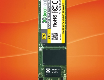 Greenliant Sampling Energy-Efficient DRAM-less NVMe M.2 2280 ArmourDrive SSDs for High-Performance Data Storage