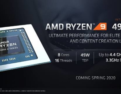 AMD Introduces The Ryzen 9 4000 H-Series Mobile Processors for Gaming Notebooks