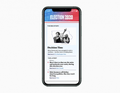 Apple News launches Coverage of the 2020 Presidential Election