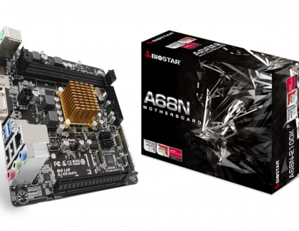 BIOSTAR Announces the A68N-2100K SoC Motherboard with an In-Built AMD Dual Core Processor