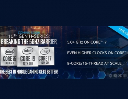 New 10th Gen Intel Mobile Gaming Processors to Exceed 5GHz
