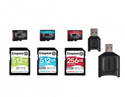 Kingston Refreshes its 'Canvas' Card Series and 'MobileLite Plus' Readers