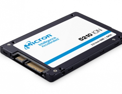 Micron Releases The 5210 ION QLC Solid-State Drive For Data Center Hard Disk Drive Displacement