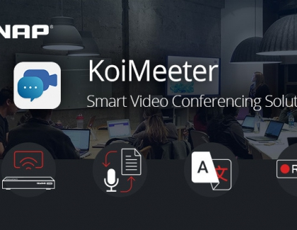 QNAP's KoiMeeter Smart Video Conferencing Solution Features Wireless Presentation, Real-time Transcription and Translation