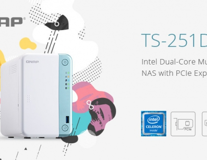 QNAP Releases Intel Dual-Core TS-251D Multimedia NAS with PCIe Expandability