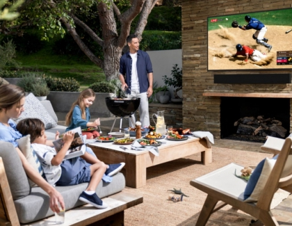 Samsung Takes the Home Entertainment Experience Outdoors with TV and Soundbar, The Terrace