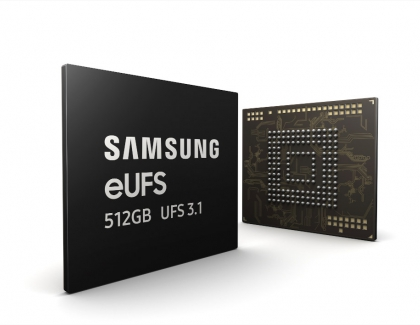 Samsung Begins Mass Production of Speedy 512GB eUFS 3.1 for  Smartphones