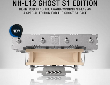 Louqe and Noctua present NH-L12 special edition CPU cooler for the Ghost S1 case
