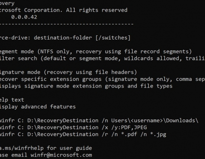 Microsoft releases Windows File Recovery tool