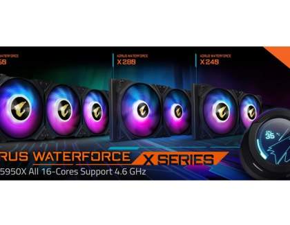 GIGABYTE Releases the AORUS WATERFORCE X SERIES AIO Liquid Cooler