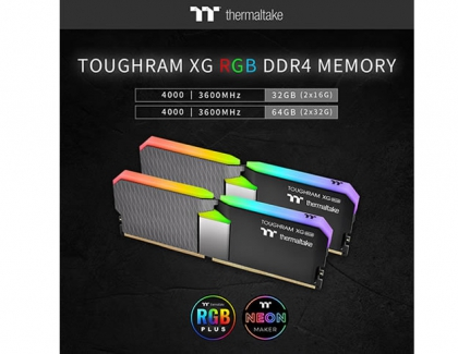 Thermaltake Launches Larger Capacity TOUGHRAM XG RGB 4000/3600 MHz for Content Creators