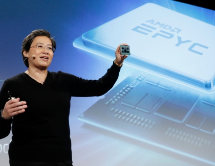 """AMD Demonstrates  7nm """"Rome"""" CPU Powered by """"Zen 2"""" Processor Cores and Chiplet Design"""