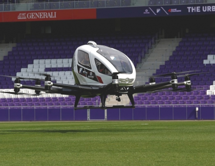 FACC and EHang Demontrate Autonomous Air Taxi in Vienna