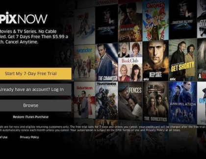 Epix Launches Sreaming Service on Apple TV, iOS and Android Devices