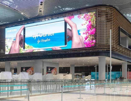 Samsung Installs the World's Largest Indoor Airport LED Signage at the New Istanbul Airport