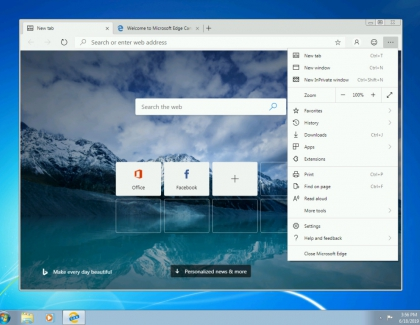 Microsoft Brings Edge Preview Builds for Windows 7, Windows 8, and Windows 8.1