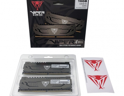 Patriot Launches the Viper Steel DDR4 16GB 4400MHz  Memory