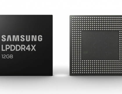 Samsung Launches 12GB LPDDR4X For Foldable Smartphones
