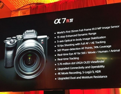 Sony A7R IV full-frame Mirrorless Camera Has a 61-megapixel Sensor