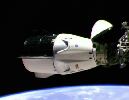 SpaceX Crew Capsule Docks with Space Station