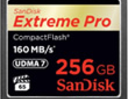 Sandisk Releases 256GB Compact Flash Card CARD For 4K Video Recording
