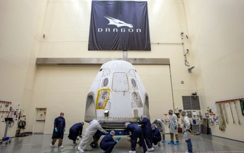 SpaceX Crew Dragon Capsule Arrives for Demo-2 Mission