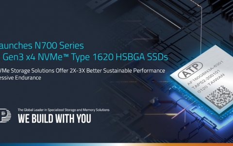 ATP Launches PCIe® Gen3 x4 NVMe™ SSDs in M.2 Type 1620 HSBGA Package