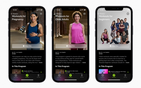 Apple Fitness+ introduces even more ways to make fitness welcoming and inclusive with new Workouts for Pregnancy, Workouts for Older Adults, trainers, and Time to Walk guest