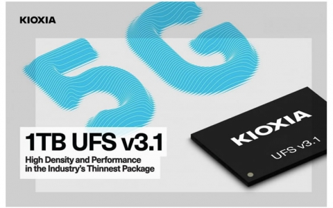 KIOXIA Announces Super Thin 1TB Ver 3.1 UFS Embedded Flash Memory Device