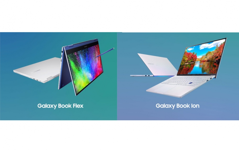 SDC19: Samsung Galaxy Book Flex and Galaxy Book Ion Laptops Come WIth QLED Displays