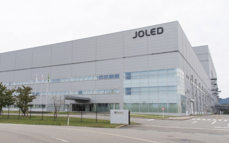 JOLED Starts Operation of Mass Production Line of Printed OLEDs