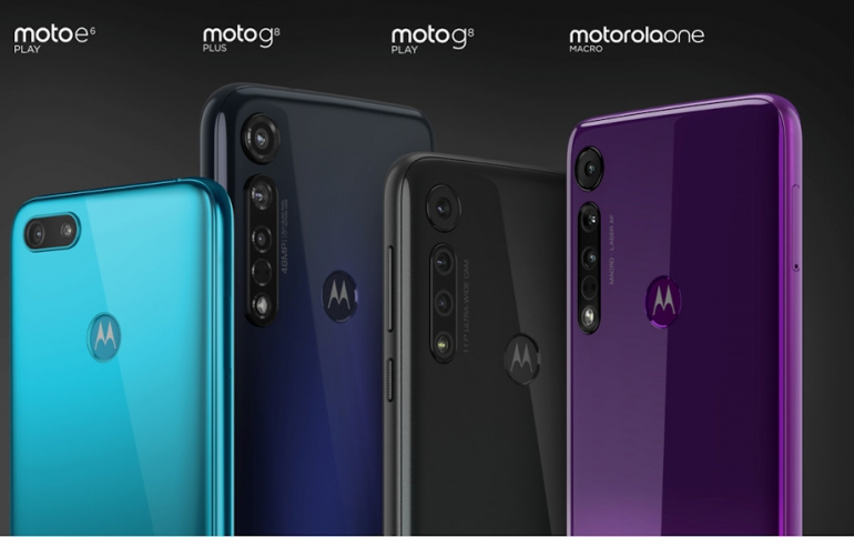 Motorola Announces the New Moto G8 Plus, Motorola One Macro and Moto E6 Play Smartphones