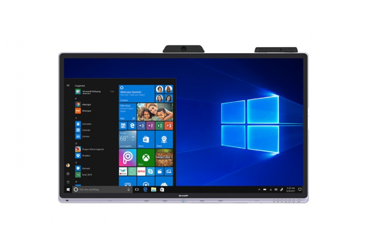 Sharp Brings the First Certified Windows Collaboration Display to Market