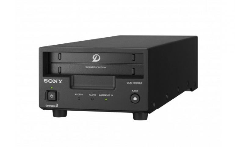 Sony's Optical Disc Archive Generation 3 Offers a Capacity of 5.5TB and 375MB/sec Transfer Speed per Drive