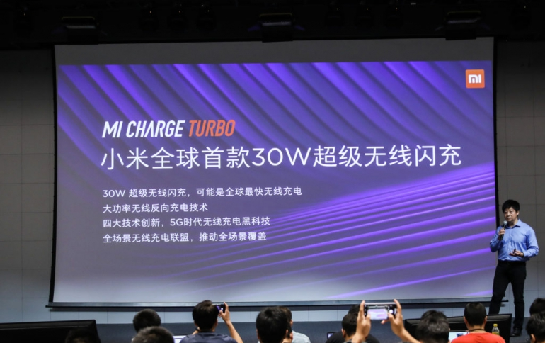 Xiaomi Announces 30W Wireless Charging Technology, 40W Currently in Test