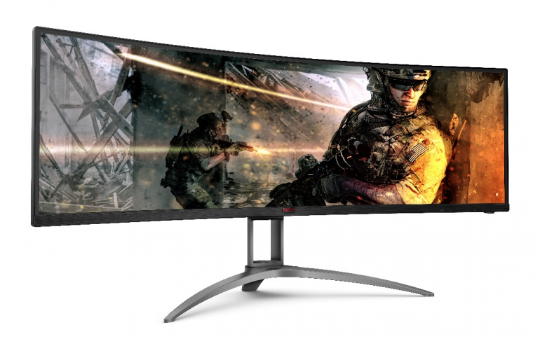 AOC Debuts New 49-inch Ultra Wide Curved Gaming Monitor at CES