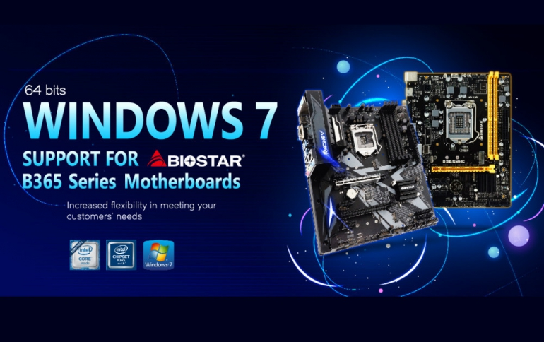 BIOSTAR Announces Windows 7 x64 SP1 Support for Intel B365 Series Motherboards