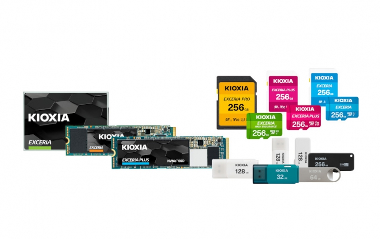 "Kioxia Launches ""KIOXIA"" Branded microSD/SD Memory Cards, USB Memory and SSDs"