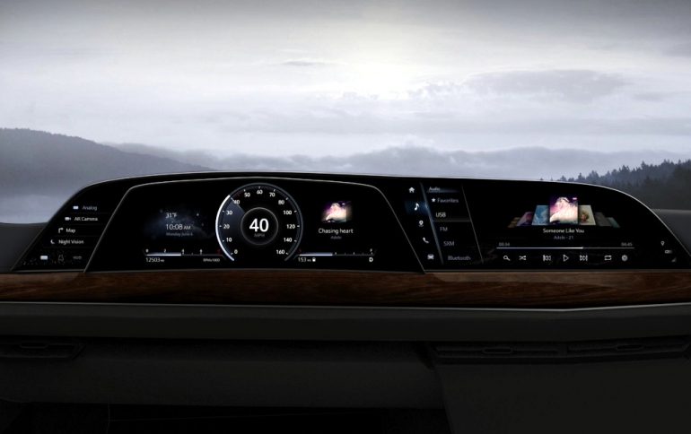 LG's Futuristic P-OLED Display System Debuts in New 2021 Cadillac Escalade