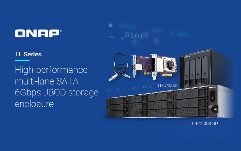 QNAP Releases 4/8/16-bay Desktop TL-D400S, TL-D800S, TL-D1600S and 4/12-bay Rackmount TL-R400S and TL-R1200S-RP SATA JBOD Storage Enclosure