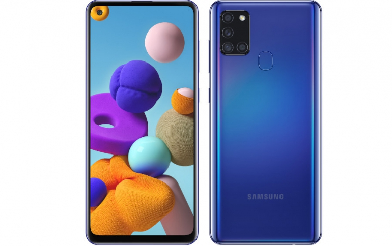 Samsung Galaxy A21s Comes With an Infinity-O Display, Quad Camera