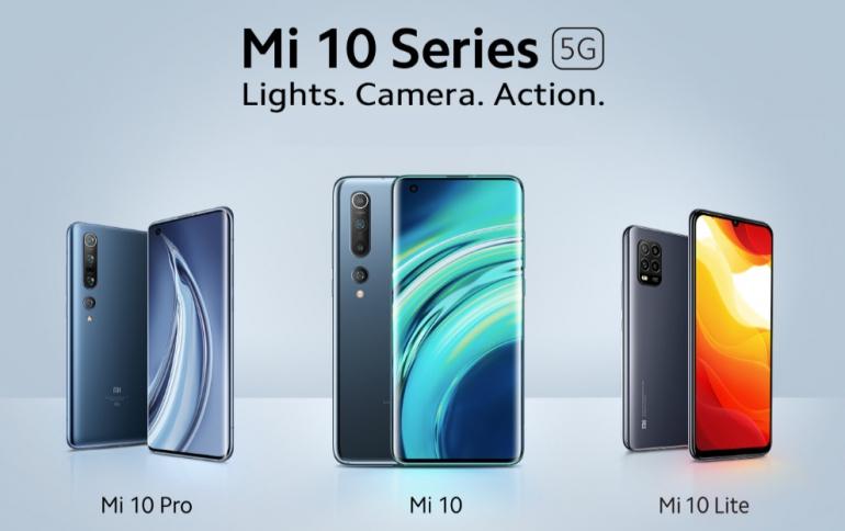 Xiaomi Announces the Global Launch of its Mi 10 Series: Mi 10, Mi 10 Pro and Mi 10 Lite 5G