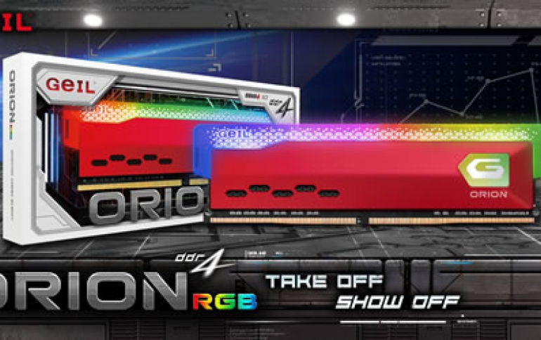 GeIL Announces the Availability of ORION RGB Gaming Memory