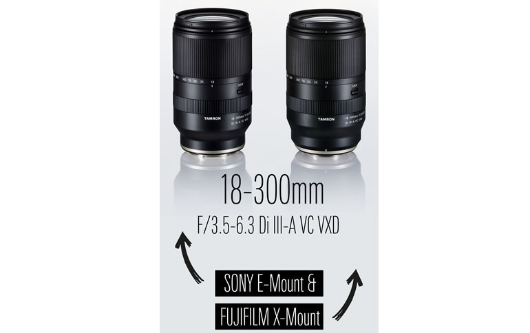 TAMRON announces development of its first lens for FUJIFILM X-mount; also available in Sony E-mount